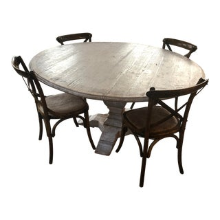 French Lillian August Grey Dining Set - 5 Pieces For Sale