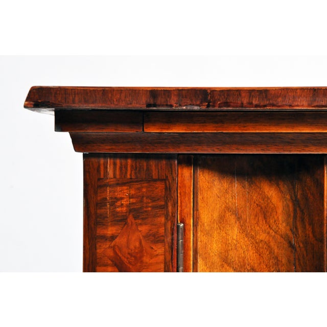 Wood Side Chest with Key Lock by Lajos Kozma For Sale - Image 7 of 11
