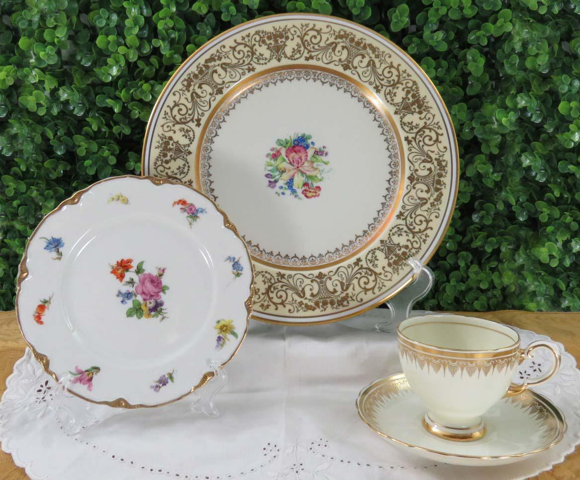 Vintage Mismatched China Dinnerware Set Service for 6 (24 Pieces) - Image 3  sc 1 st  Chairish & Vintage Mismatched China Dinnerware Set Service for 6 (24 Pieces ...