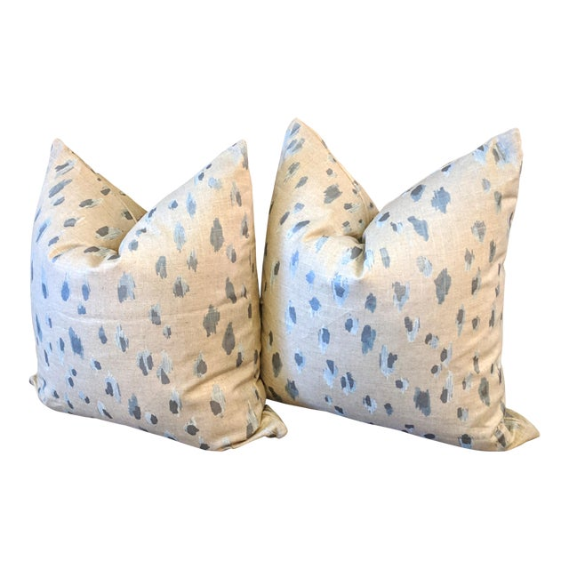 Lacefield Asher in Swedish Blue Pillows - A Pair For Sale