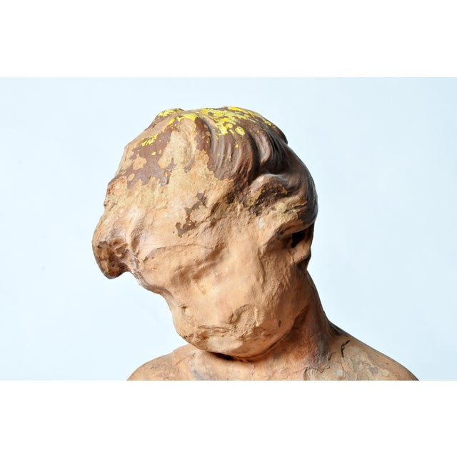 Ceramic French Terracotta Figure of a Boy For Sale - Image 7 of 11