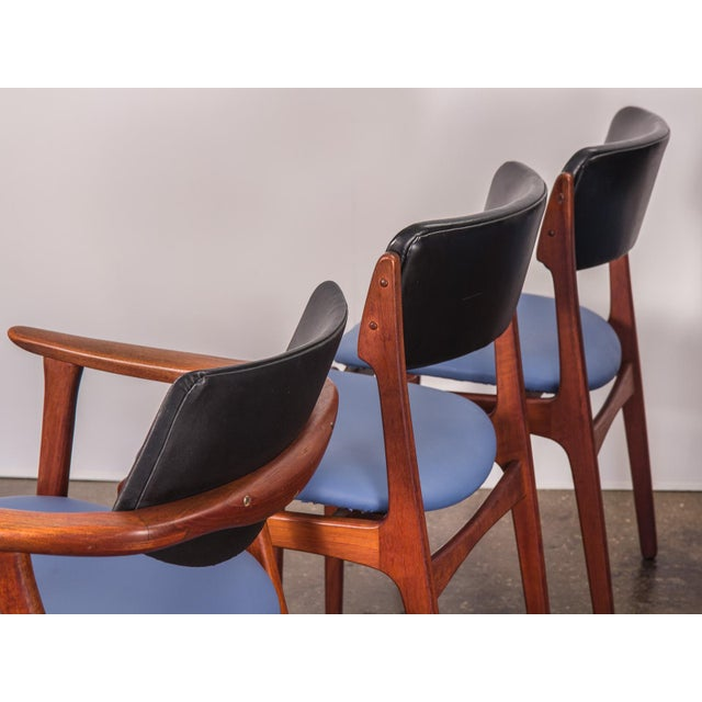 Set of 6 Erik Buck Style Teak Dining Chairs - Image 6 of 11