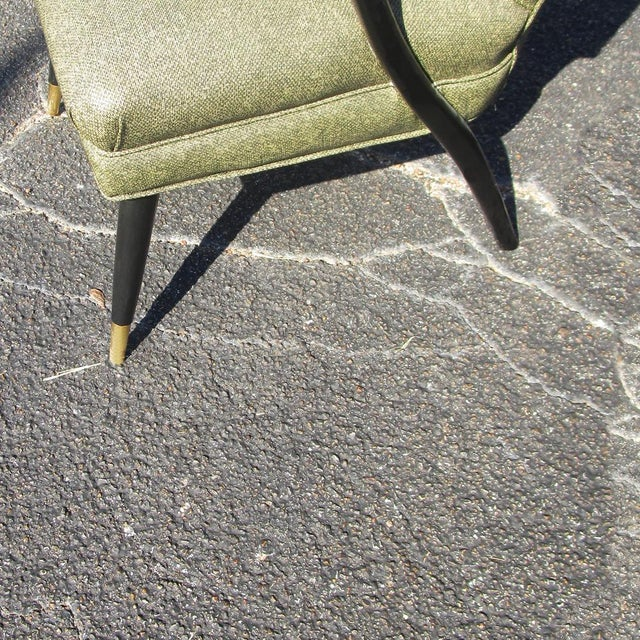 Wood Vintage Mid-Century Pair of Italian Style Lounge Chairs Mr14715 For Sale - Image 7 of 9
