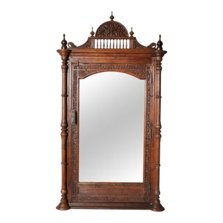 Carved British Colonial Mirror Frame For Sale