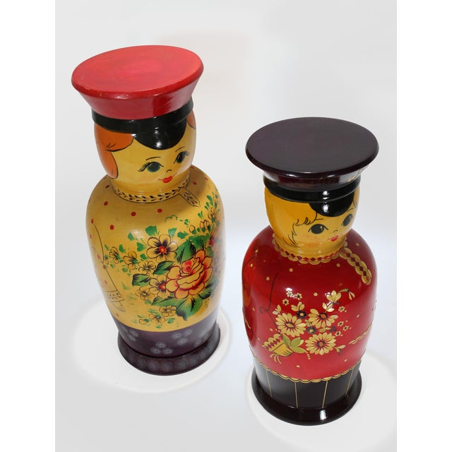 Vintage Russian Bottle Holding Soldier Dolls, Set of 2 For Sale - Image 4 of 11
