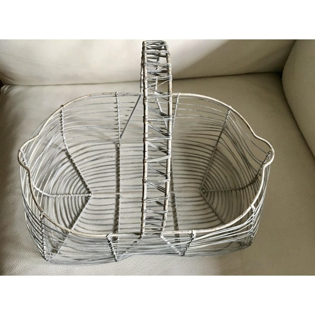 Metal Antique French Wire Basket For Sale - Image 7 of 7
