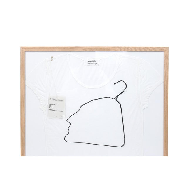 2010s Contemporary Abstract Limited Edition Framed T Shirts by Ai Weiwei - a Pair For Sale - Image 5 of 13