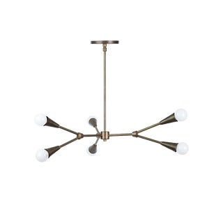 Contemporary SABIN 3-Arm Brass Chandelier For Sale