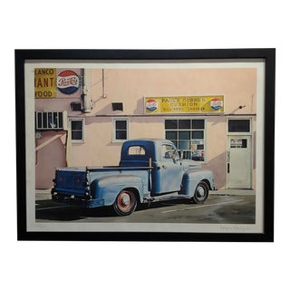 """1972 """"Paul's Corner Cushion"""" Original 1972 Signed Lithograph by Ralph Goings For Sale"""