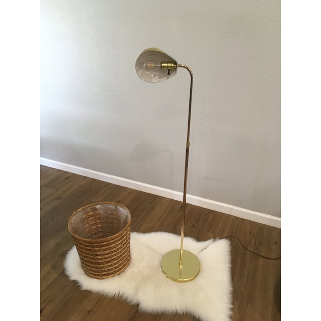 1970s Vintage Brass Shell Floor Lamp For Sale - Image 5 of 8