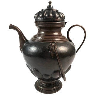 Late 19th Century Baroque Style Copper Kettle For Sale