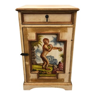20th Century Hand Painted Monkey Cabinet For Sale