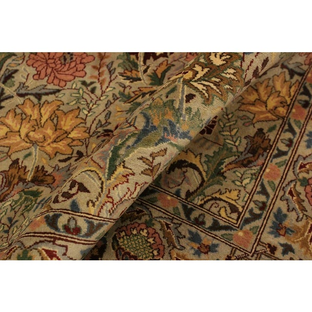 Asian Pak-Persian Jeni Lt. Gray/Gold Wool Rug - 4'1 X 6'2 For Sale - Image 3 of 8