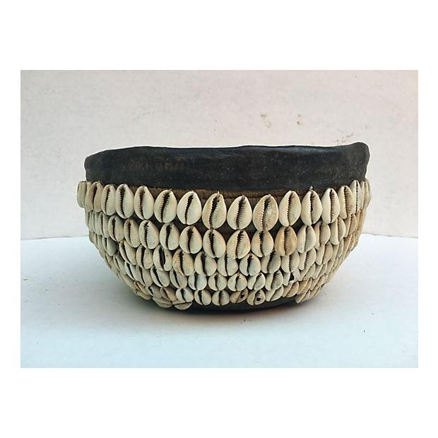 African Tribal Shell Basket For Sale - Image 5 of 6