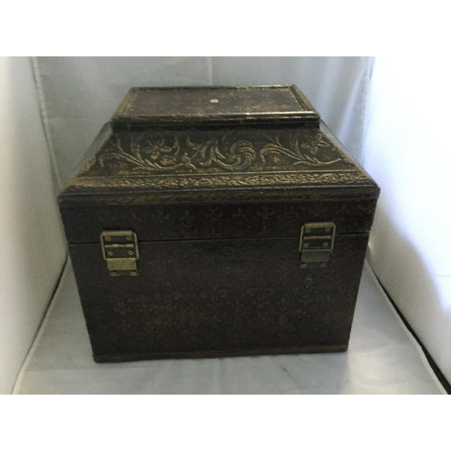 Ebony Contemporary Boho Wooden Chest For Sale - Image 8 of 10