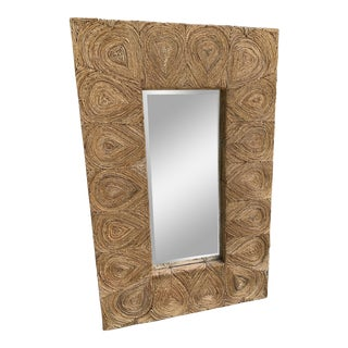 Twisted Seagrass Accent Mirror For Sale