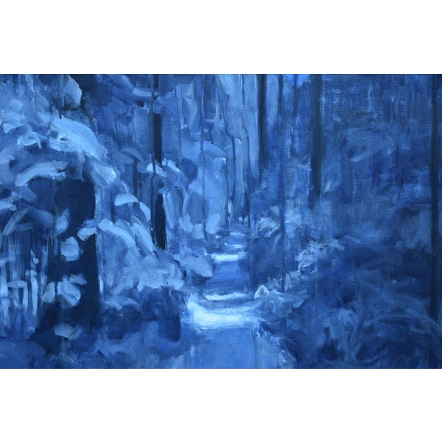 """Contemporary Contemporary Expressionist Painting by Stephen Remick, """"Following Moonlight"""" For Sale - Image 3 of 11"""