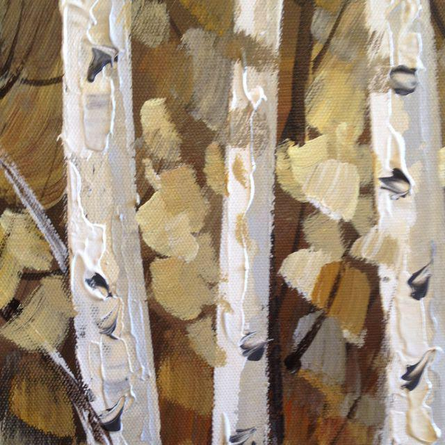 Aspens in Bloom Painting For Sale In Sacramento - Image 6 of 8