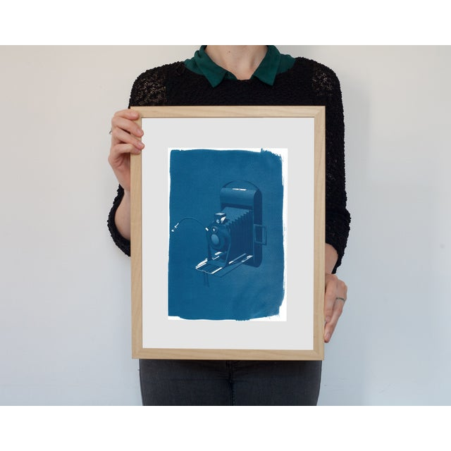 Cyanotype Print - Vintage 4 x 5 Camera - Image 2 of 3