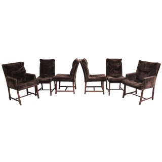 Paul Evans Directional Mid Century Modern Custom Collection Dining Chairs - Set of 6 For Sale