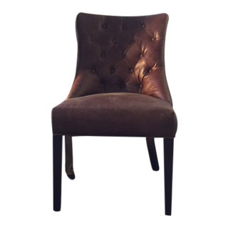 Contemporary Pottery Barn Hayes Leather Accent Chair