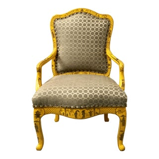 Chinoiserie French Style Arm Chair For Sale
