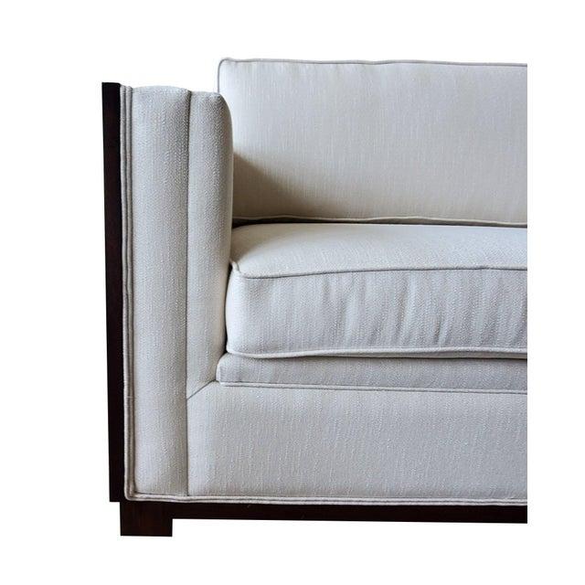 White Thomasville Furniture Ernest Hemingway Moncado Mahogany Art Deco Sofa For Sale - Image 8 of 10