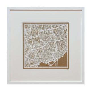 Sarreid LTD Framed Toronto Map For Sale