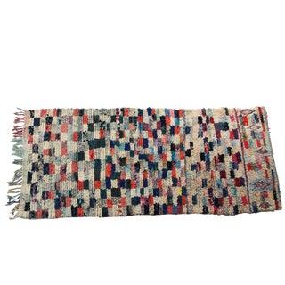 "Vintage Boucherouite Rag Rug - 3'4""x7'6"""