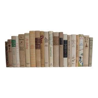 Vintage Cabin Linens Book Set, (Set of 20) For Sale