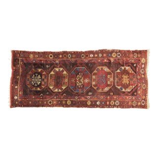 """Vintage Turkish Anatolian Hand Knotted Organic Wool Fine Weave Rug,4'x9'6"""" For Sale"""