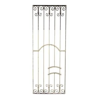 Antique Victorian Iron Gate Window Garden Fence Architectural Salvage Door #345 For Sale