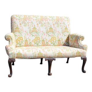 Wonderful English Georgian Settee For Sale