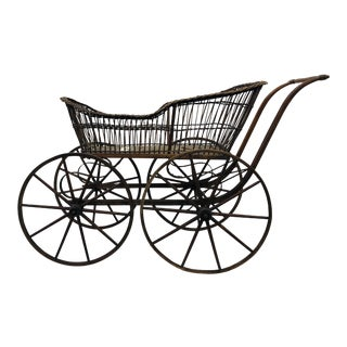 Antique Wicker Nursery Carriage For Sale