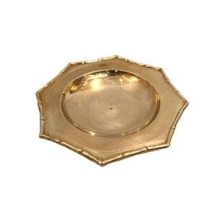 Vintage Mid-Century Brass Dish For Sale