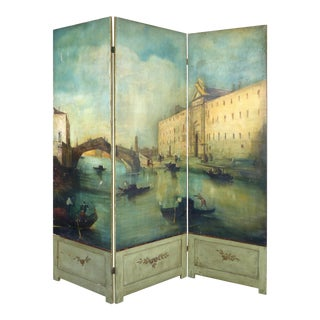 Venetian Oil Painted Screen