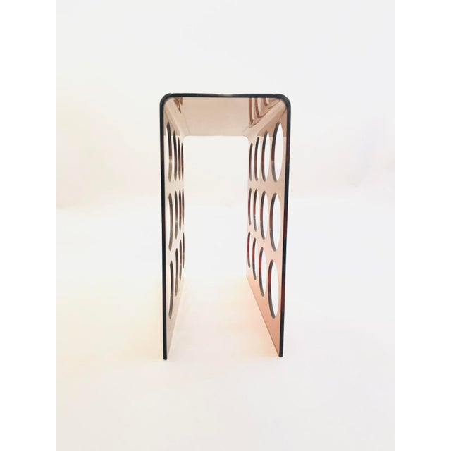 Modern 1960s Copper Tint Acrylic Wine Rack For Sale - Image 3 of 4