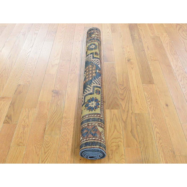 1900 - 1909 Antique Caucasian Kazak Even Wear Hand Knotted Rug- 3′10″ × 6′3″ For Sale - Image 5 of 8