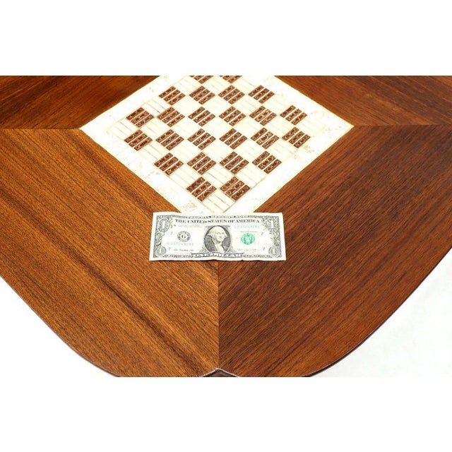 Brown Pair of Clover Shape Tile and Walnut Top Round End Side Occasional Tables For Sale - Image 8 of 13