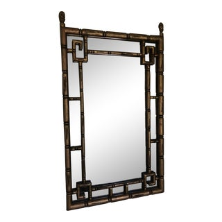 Hollywood Regency Gold Leaf Mirror For Sale