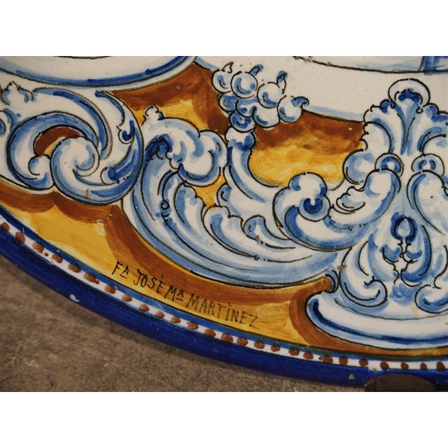 White Antique Renaissance Style Platter from Spain For Sale - Image 8 of 10
