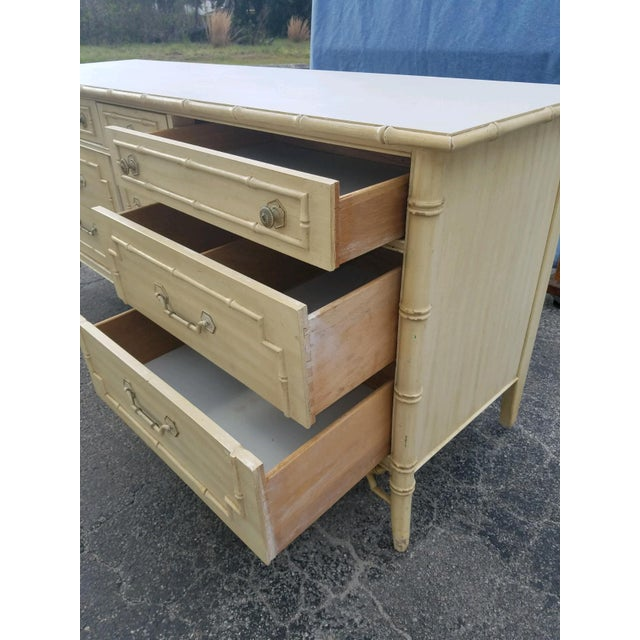 Thomasville 1970s Regency Thomasville Bamboo Style Dresser For Sale - Image 4 of 7