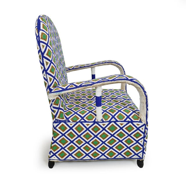 African Yoruba Beaded Chair For Sale - Image 3 of 5