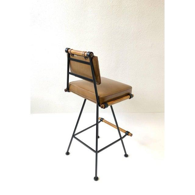 Set of Three Swivel Barstools For Sale - Image 9 of 10