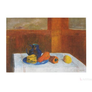 Odilon Redon Still Life With Peppers and Pitcher Poster For Sale