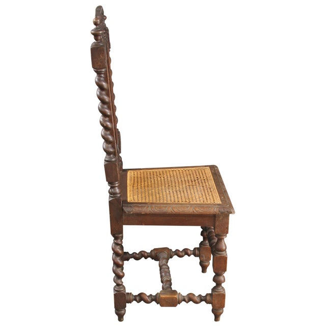 Brown Antique Renaissance-Style Hunt Chairs - Set of 6 For Sale - Image 8 of 8
