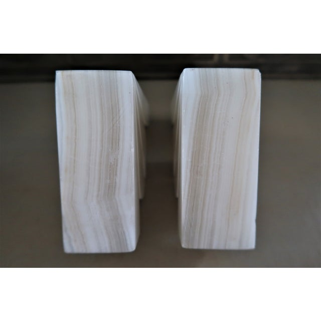1950s 1950s Minimalist Onyx Agave Bookends - a Pair For Sale - Image 5 of 6