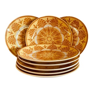 70s Mid-Century Royal-Ironstone China Salad Plates - Set of 8 For Sale