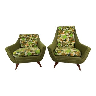 1960s Vintage Adrian Pearsall for Prestige Furniture Corporation His and Hers Chairs - A Pair For Sale