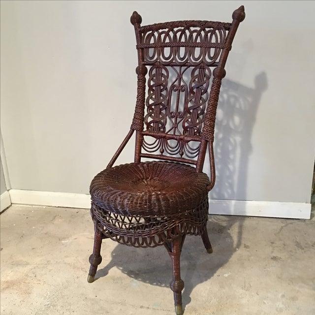 Heywood-Wakefield Victorian Wicker Chair - Image 2 of 11